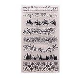 Kimyu Weihnachtsbaum-Muste Gummi durchsichtiger Transparent Stempel DIY Collage Album Decor