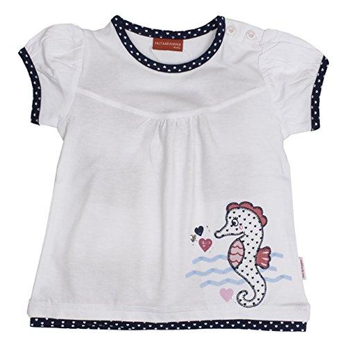SALT AND PEPPER Baby-Mädchen B T-Shirt Beach Long, Weiß (White 010), 74