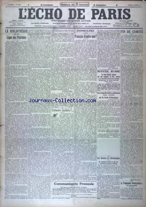 ECHO DE PARIS (L') [No 11854] du 29/01/1917