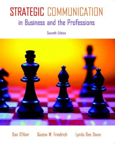 Strategic Communication in Business and the Professions by Dan O'Hair (2010-02-15)