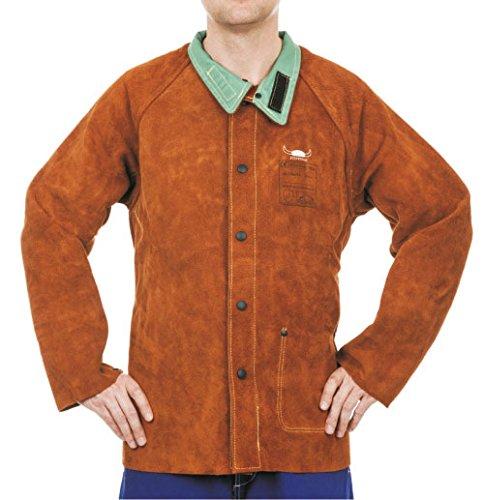 Weldas Schweißerlederjacke Lava Brown STEERSOtuff Gr. XL - Länge: 86cm, Rindspaltleder