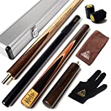 CUESOUL 57 Handcraft 3/4 Jointed Snooker Cue with Mini Butt End Extension Packed in Aluminium Cue Case ( D305 )