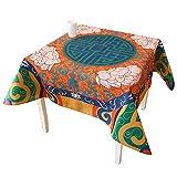 fwerq Chinesische Küche Tisch Matte Wohnzimmer Couchtisch Abdeckung Tuch Tischdecke (Größe: 85 * 85 cm)