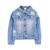 BestWahl Boys Girls Blue Denim Jeans Jacket Kids Style Stylish Fashion Trendy Coat (height 90-99cm, Boys)
