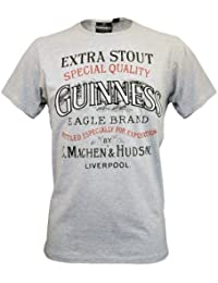 Guinness Official Merchandise Eagle Brand Round Neck Slim Fit Printed Men's T-Shirt