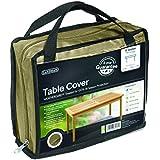 Gardman 35868 - Funda para mesa rectangular de 8 personas, color beige