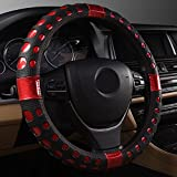 ECLEAR Car Leather Steering Wheel Covers Universal Fit...