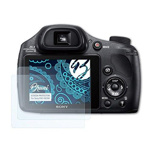 Bruni Schutzfolie für Sony DSC-HX350 Folie, glasklare Displayschutzfolie (2X)