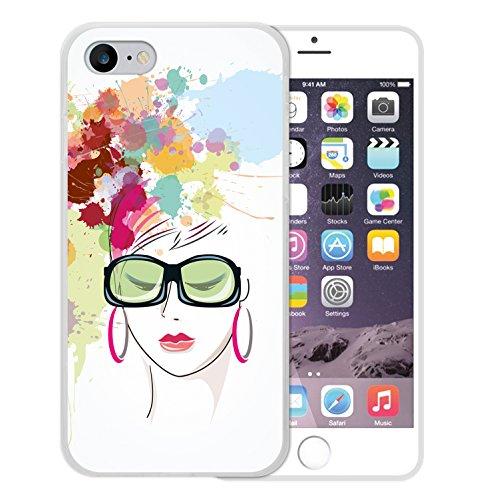 WoowCase Hülle Case für [ iPhone 7 ] Handy Cover Schutzhülle Gehirn, Musik und Wissenschaft Housse Gel iPhone 7 Transparent D0138