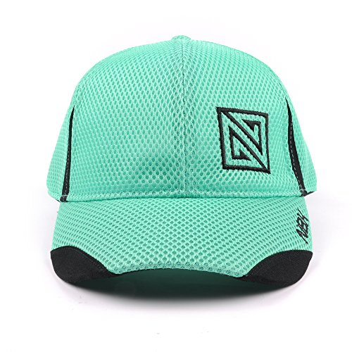 Nonbak gorra mesh casual/running tejido transpirable logo bordado Unisex 2 colores (GREEN EMERALD)