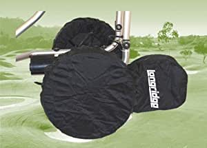 3 x Nylon Golf Trolley Wheel Covers & Storage Pouch