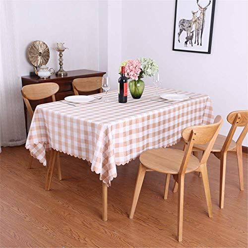 SONGHJ Restaurant Gartentischdecke Stoff Gitter rechteckigen Café Tischdecke Hotel Hotel zu Hause B 140x160cm