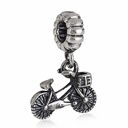Fahrrad Baumeln Charms 925Sterling Silber Sports Bead für European Armband (Charms Baumeln Authentisch Pandora)