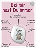 The Art of Stone Memo Stein Card - Bei Mir hast Du Immer: … - Glücksbringer, Handschmeichler und Talisman - Erinnerungs Stein