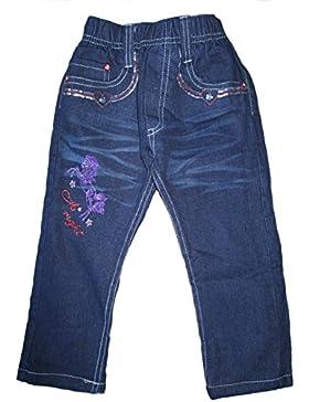 Mädchen Thermo Jeans, Hose, Thermohose, gefüttert, mit Motiv, blau, AM-KI-MAE-Jeans-Thermo-bl-GF47