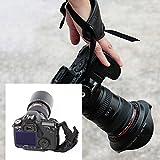 Andoer®PU main Poignée Bracelet Courroie Dragonne Sangle Reflex Grip Dragonne Accessoires Photographie pour Camera Photo Canon Nikon Sony Pentax