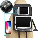Backseat organizer Protector con tavolino pieghevole, supporto per auto sedile posteriore organizzatore portatile con 4 porta USB del tavolo da pranzo, tasca per iPad Kindle tablet, baby Kid Toys
