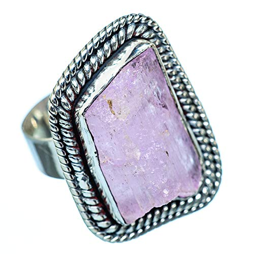 Kunzite, Kunzita 925 Plata de Ley Ring 6.5