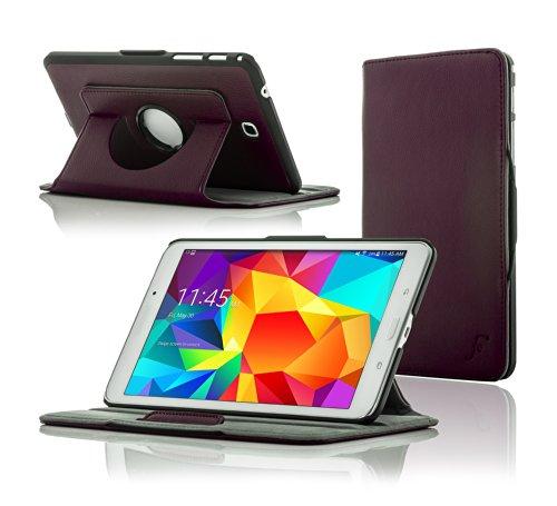 ForeFront Cases® Neue Leder Drehbar Hülle / Tasche / Case / Cover für Samsung Galaxy Tab 4 8.0 T330 - Rundum-Geräteschutz und intelligente Auto-Sleep-Wake-Funktion mit 3-JAHRES-GARANTIE VON FOREFRONT CASES