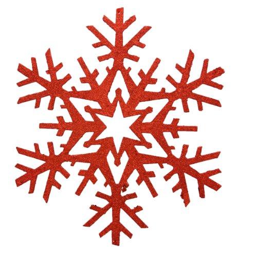Renaissance 2000Deko-Weihnachten Snow Ornaments, 18, rot
