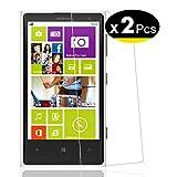 NEW'C Pacco da 2 Pezzi, Pellicola Protettiva in Vetro Temperato per Nokia Microsoft Lumia 1020