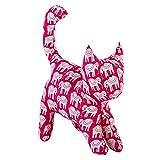 NeedyBee Handmade Soft Stuffed Animal Plush Fabric Kitten/Cat with Hand Block Print For Baby/Kids