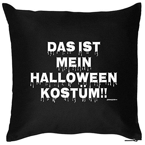 Preiswert Halloween Für Kostüm Ideen (Kissen mit Halloween Motiv: Das ist mein Halloween Kostüm!! - Halloween Deko für das Wohnzimmer - Couch - Sofa -)