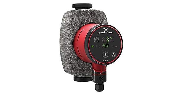 Grundfos Alpha3 HE-Umw/älzpumpe 25-40 180 mm mit Bluetooth und Autoadapt Funktion 99371926