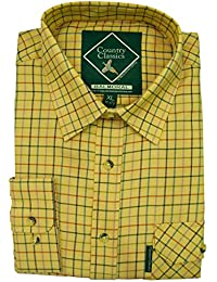 Stylish Check Flannel Outdoor Long Sleeve Shirts Country Classics Mens Shirts Ascot
