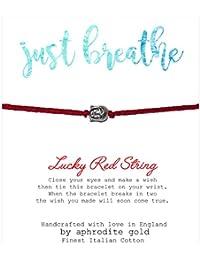 Just Breathe Lucky Red String Friendship Bracelet