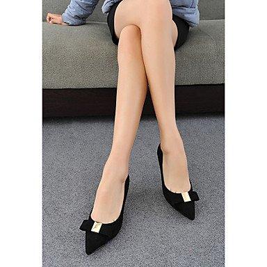 Moda Donna Sandali Sexy donna caduta tacchi Comfort Felpa casual Stiletto Heel Bowknot Nero / Marrone / Fucsia Altri Brown