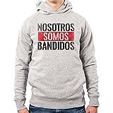 PacDesign Felpa con Cappuccio Uomo Narcos Serie TV Frasi Pablo Escobar Emilio Anni 80 80s Pd0020a, XL, Lightgrey