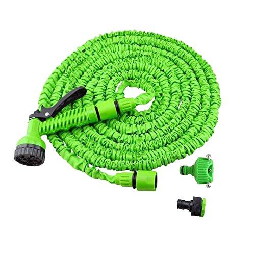 Tellm d'eau à haute pression Gun télescopique Tuyau à laver Pistolet tuyaux Lavage de voiture Jardin Pistolet pulvérisateur, Plastique, Green, 75FT 22.5m