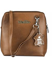 Vestta Genuine Leather Brown Sling Bag For Woman