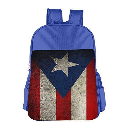 Puerto Rico Flag Vintage Children School Backpack Carry Bag for Teens Boy Girls