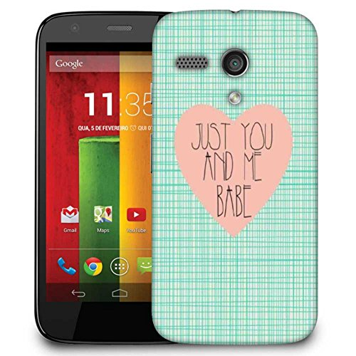 Snoogg Just You And Me Babe Designer Protective Phone Back Case Cover For Motorola G / Moto G