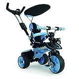 Dreirad in Blau für Kinder ab 6 Monaten mit Sonnendach und Sicherheitsbügel Trike City Blue