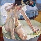 Posterlounge Alu Dibond 50 x 50 cm: in der Badewanne von Leo Putz