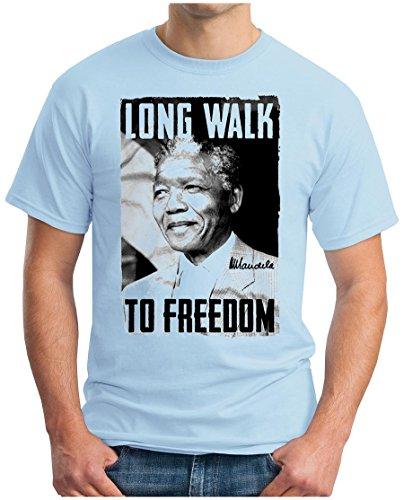 OM3 - MANDELA - LONG WALK TO FREEDOM - T-Shirt NELSON MADIBA APARTHEID AFRIKA PEACE, S - 5XL