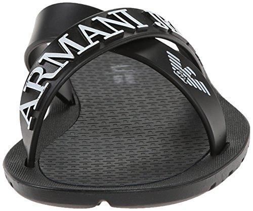 Armani Jeans 0659769 Herren Sandalen Schwarz (NERO - BLACK 12)