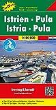 Istrien - Pula, Autokarte 1:100.000, Top 10 Tips, freytag & berndt Auto + Freizeitkarten