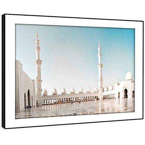 BFC419C gerahmte Bild Wand kunst- Islam Moschee Haji Moderne Malerische Landschaft Wohnzimmer Schlafzimmer Stück Wohnkultur Leicht Hang Guide (58X41cm)