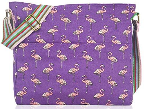 Kukubird Flamingo Toile Bandoulière Sac Avec Sac À Poussière Kukubird Purple