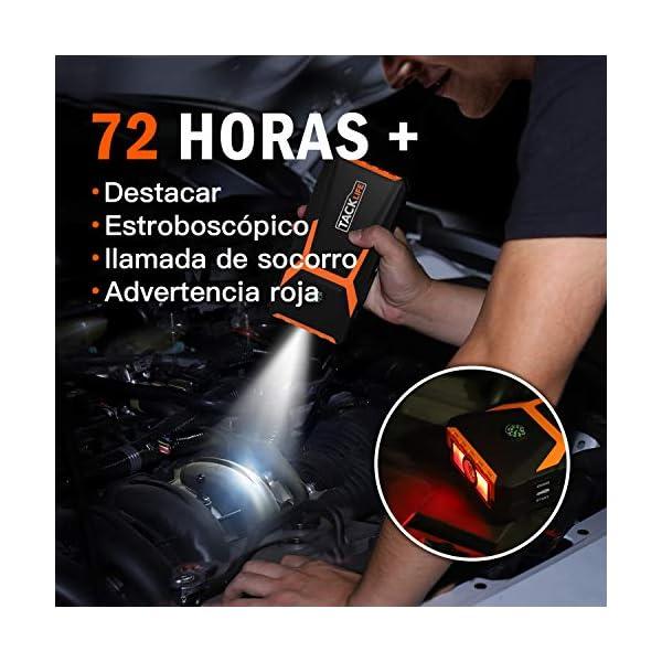 TACKLIFE T8 Arrancador de Coches – 800A/18000mAh Arrancador de Baterias de Coche para 7.0L Gasolina o 5.5L Diesel, con…