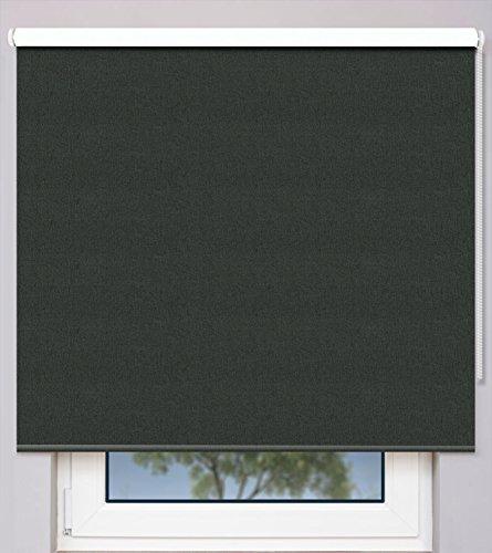 EFIXS Kettenzugrollo auf Maß ~ Breite 120,1 bis 130cm ~ Höhe 120,1 bis 140cm ~ Verdunkelungs- & Hitzeschutzrollo ~ Farbe: anthrazit ~ Montageträger: Universal