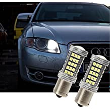 Fezz Bombillas LED Coche Luz Diurna Drl S25 Ba15S 1156 2835 66Smd Canbus