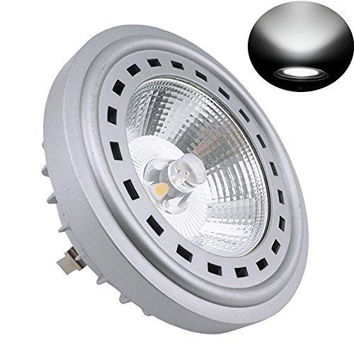 Bonlux 12W LED G53 AR111 12-24V 6000K Luz Fría 24 Grados Cree COB LED G53 ES111, Reemplazo del lámpara Halógena de 75W