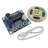 Aihasd ISD1820 Ton Sprach Aufnahme Wiedergabe Modul mit Mic Mikro Schall Audio Lautsprecher