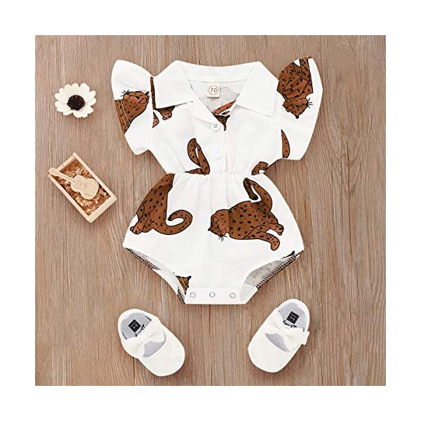 MAYOGO Monos para Bebé Niñas Verano Recién Nacidos 2019 Pelele Conjuntos Bodies Bebe Niñas Manga Corta Bautiz Mameluco… 5