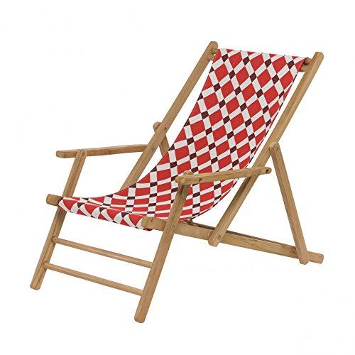 Maxx Deckchair Liegestuhl Acryl - Ambra rot